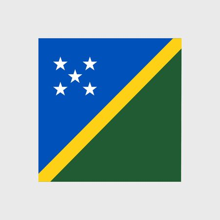 estrellas cinco puntas: Set of vector icons with flag of the Solomon Islands