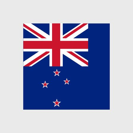 bandera de nueva zelanda: Conjunto de iconos del vector con la bandera de Nueva Zelanda Vectores