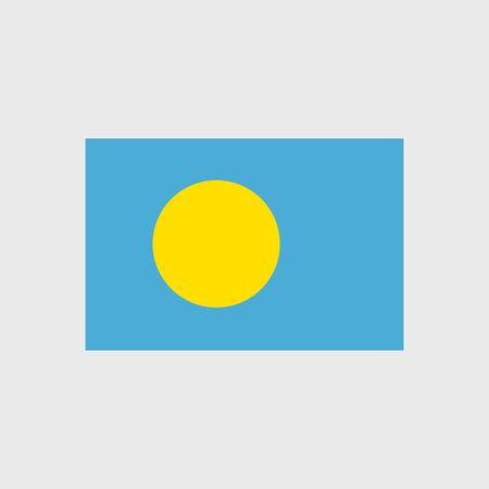 palau: Set of vector icons with Palau flag Illustration
