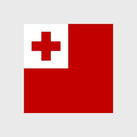 tonga: Set of vector icons with Tonga flag