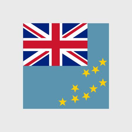 estrellas cinco puntas: Set of vector icons with Tuvalu flag