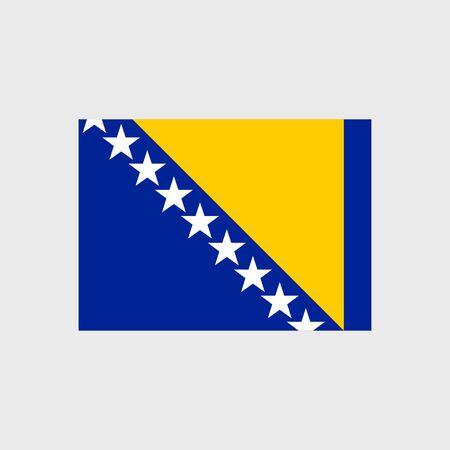 herzegovina: Set of vector icons with Bosnia and Herzegovina flag Illustration