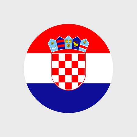 Set of vector icons with Croatia flag