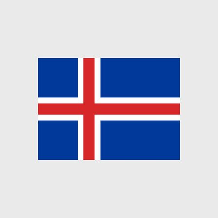 iceland flag: Set of vector icons with Iceland flag Illustration