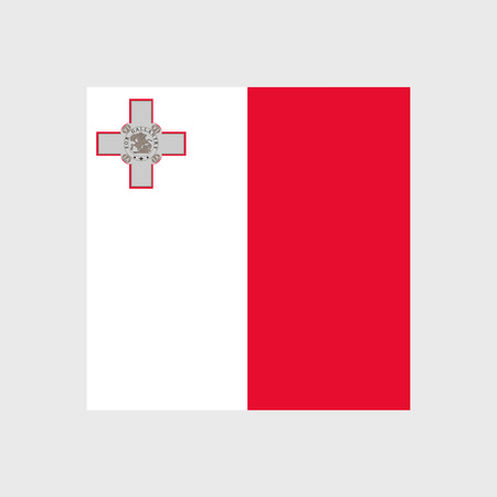 maltese map: Set of vector icons with Malta flag