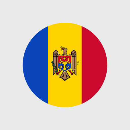 moldovan: Set of vector icons with Moldova flag
