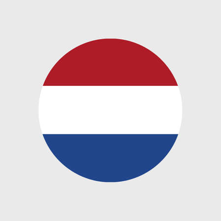 the netherlands: Set of vector icons with Netherlands flag