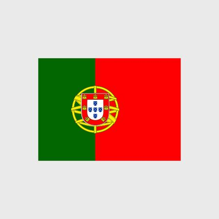 portugal flag: Set of vector icons with Portugal flag Illustration