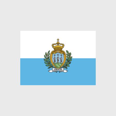 san marino: Set of vector icons with San Marino flag