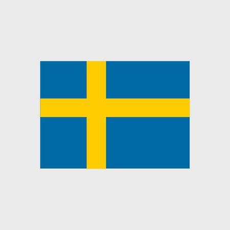 bandera de suecia: Conjunto de iconos del vector de la bandera de Suecia