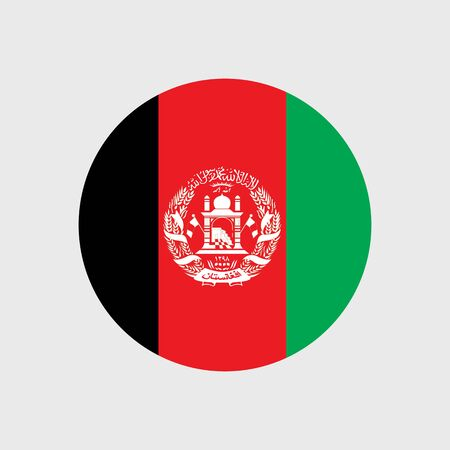 afghanistan flag: Set of vector icons with Afghanistan flag