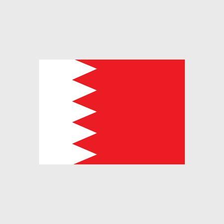 bahrain: Set of vector icons with Bahrain flag