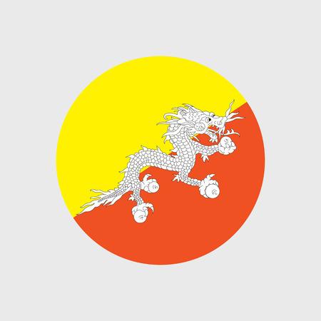 bhutan: Set of vector icons with Bhutan flag