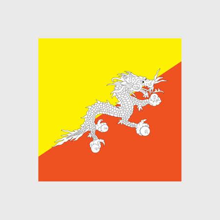 monarchy: Set of vector icons with Bhutan flag