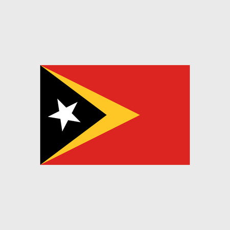 timor: Set of vector icons with East Timor flag Illustration