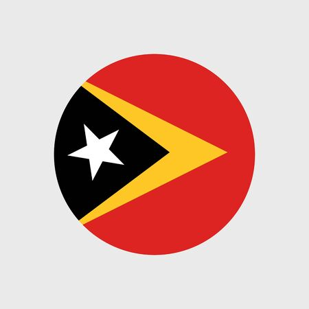 east: Set of vector icons with East Timor flag Illustration