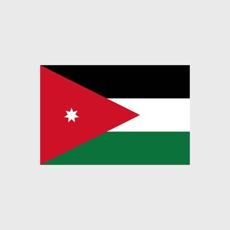 jordan: Set of vector icons with Jordan flag