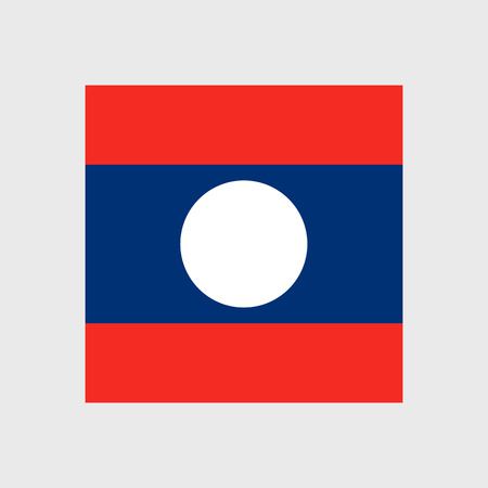 laos: Set of vector icons with Laos flag Illustration