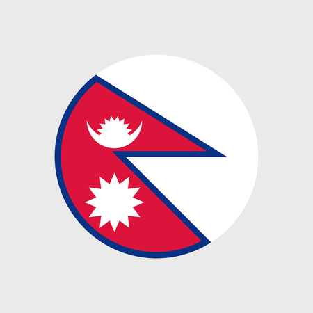 pennon: Set of vector icons with Nepal flag