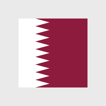 qatar: Set of vector icons with Qatar flag