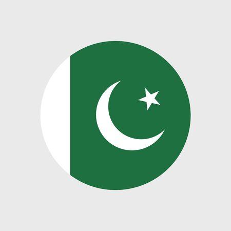 pakistan flag: Set of vector icons with Pakistan flag Illustration
