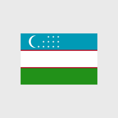 pennon: Set of vector icons with Uzbekistan flag
