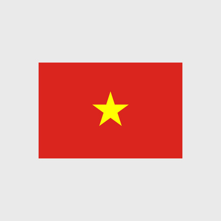 yellow star: Set of vector icons with Vietnam flag