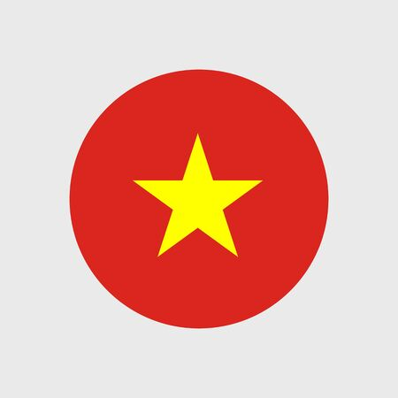 world class: Set of vector icons with Vietnam flag