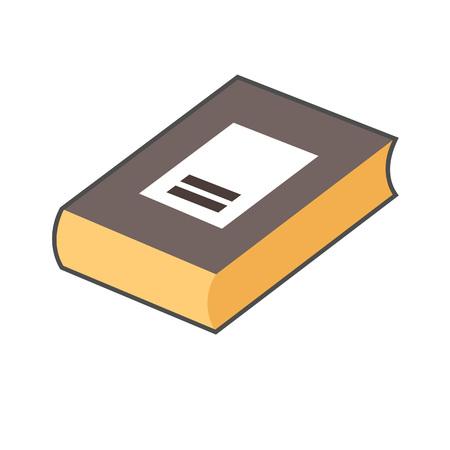 closed book: Book vector icon. Colored line illustration of closed book