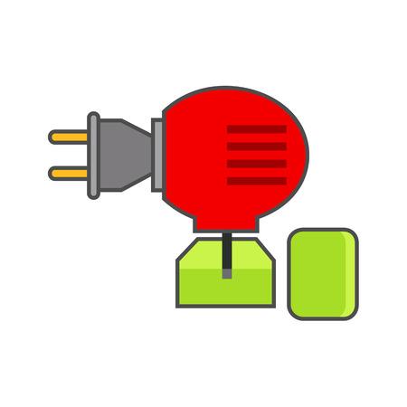 fumigador: Anti-mosquito fumigador icono del vector. icono de la línea de color de fumigador eléctrico contra mosquitos Vectores