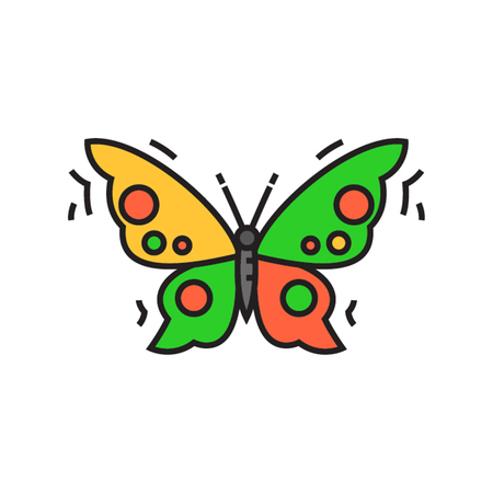 butterfly flying: Butterfly. Insect, flying, kell. Animal concept. Can be used for topics like animal, biology, beauty Illustration