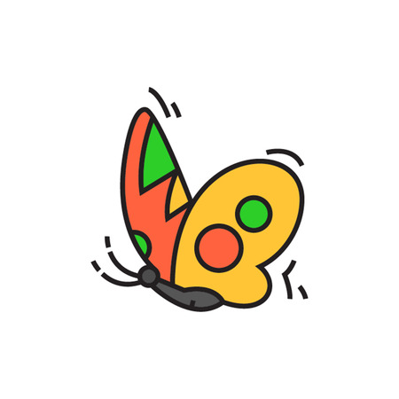 arthropods: Butterfly profile. Insect, flying, logo. Animal concept. Can be used for topics like animal, biology, beauty Illustration