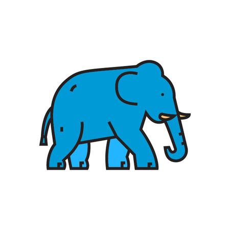 zoology: Elephant. Animal, zoo, mammal. Animal concept. Can be used for topics like animal, zoo, zoology