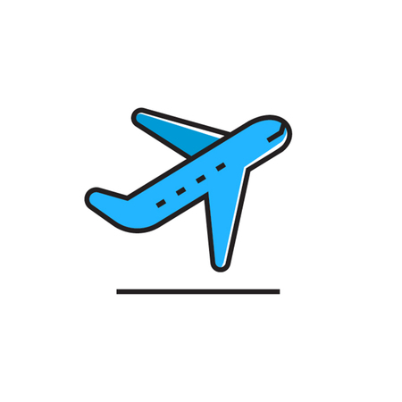 taking off: Taking off airplane. Airport, flight, air transport. Travel concept. Can be used for topics like airport, travel, airline Illustration
