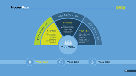company vision: Process mind map slide template. Business data. Chart, graph, diagram. Concept for infographic, business templates, presentation, marketing. Can be used for topics like banking, management, finance.