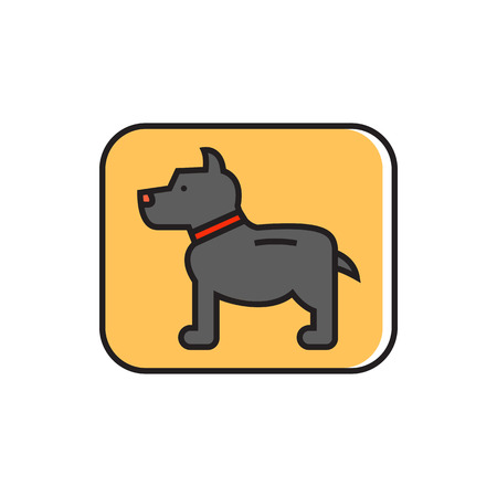 Dog sign. Pet, animal, dog, park zone. Pet concept. Can be used for topics like pet, friend, animal Ilustração