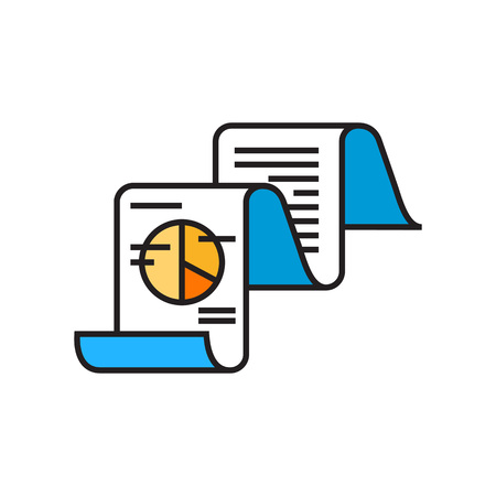 technolgy: Fax message with text and pie chart. Data, technolgy, business analysis. Business concept. Can be used for topics like business, finance, technology