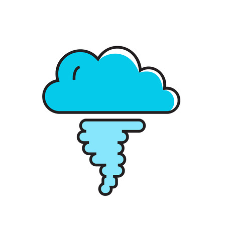 hurricane weather: Cloud and hurricane funnel illustration. Hurricane, weather, tornado, weather forecast. Weather concept. Can be used for topics like weather, meteorology, weather forecast Illustration