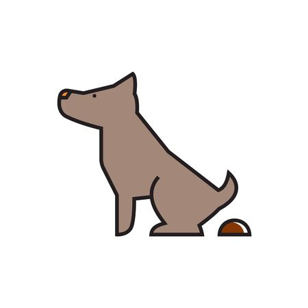 defecation: Pooping dog sign. Pet, poop, park zone. Pet  concept. Can be used for topics like pet, friend, environment