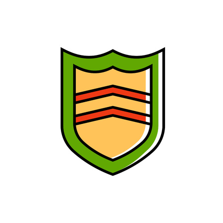 safeguard: Shield illustration. Security, emblem, badge. Safeguard concept. Can be used for topics like security, insignia, safety