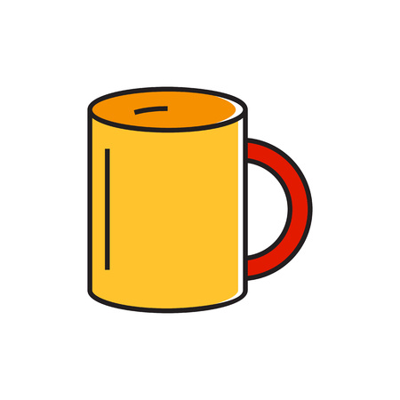 big break: Mug illustration. Drinking, tea, coffee. Kitchen concept. Can be used for topics like kitchen, drinks, tea time