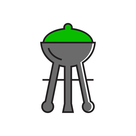 charcoal grill: Charcoal grill. Barbecue, picnic, grilling. Barbecue concept. Can be used for topics like picnic, meal, kitchen
