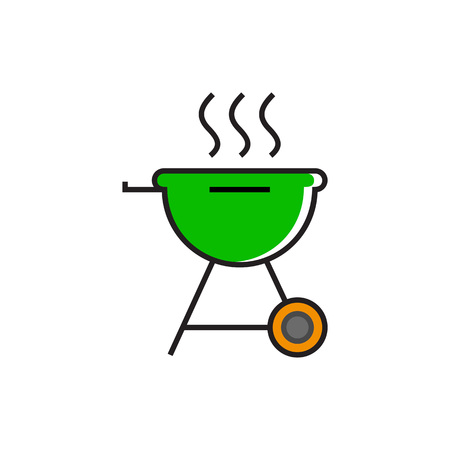 friend  nobody: Hot charcoal grill. Barbecue, picnic, grilling. Barbecue concept. Can be used for topics like picnic, meal, kitchen