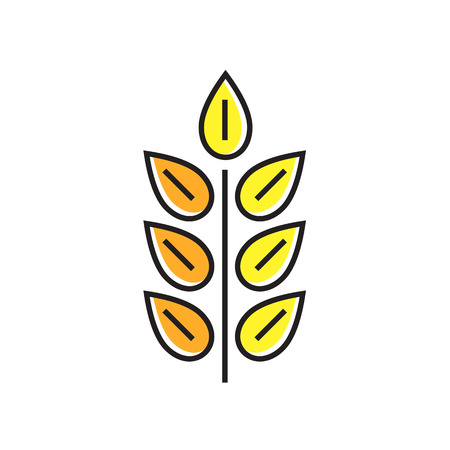 harvesting: Wheat ear illustration. Plant, harvest, nature. Harvesting concept. Can be used for topics like plant, nature, harvesting