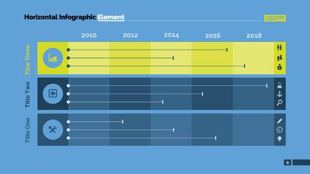 cuadro que compara tres partes. Elemento de diagrama, presentación, gráfico. Concepto para la infografía, plantillas, informes. Puede ser utilizado para temas como la investigación de mercados, análisis comparativo, el progreso