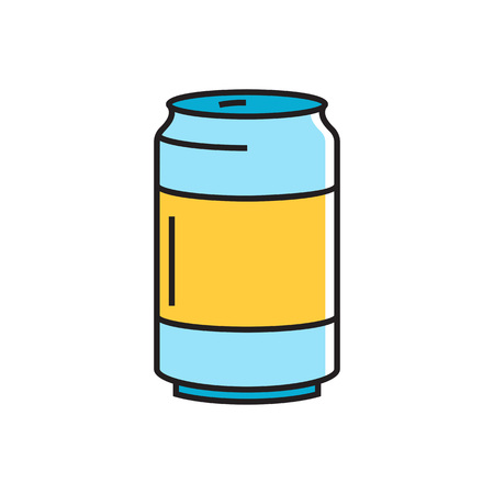 refreshing: Illustration of aluminum can. Beverage, drink can, refreshing drink. Drinking concept. Can be used for topics like drink, beverage, food Illustration