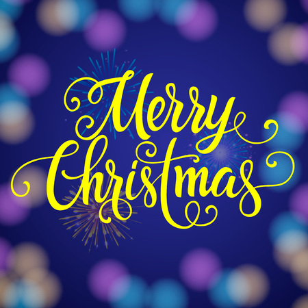 Frohe Weihnachten Schriftzug Beleuchtet.Stock Photo