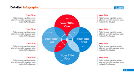 Venn diagram slide template. Business data. Graph, chart, design. Creative concept for infographic, templates, presentation, report. Can be used for topics like analysis, planning, management.