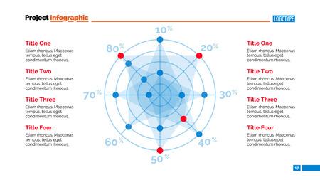radar chart slide template business data graph diagram design