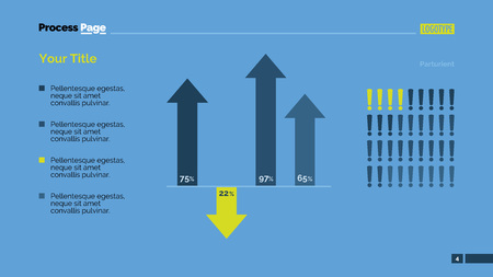 combo: Combo diagram with arrows and exclamation marks. Element of presentation, bar chart, diagram. Concept for templates, infographics, report. Can be used for topics like marketing, analysis, finance